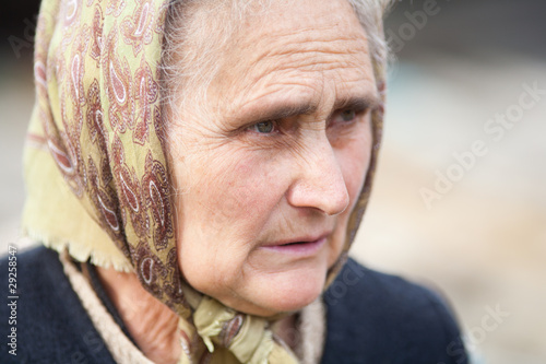 Senior rural woman