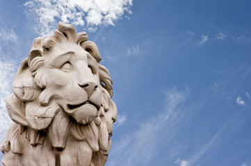 The South Bank Lion statue in London