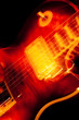 vivid color rock and roll guitar abstract