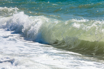 Sea surf wave (nature background)