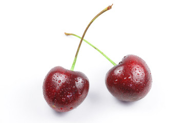 Two isolated cherry