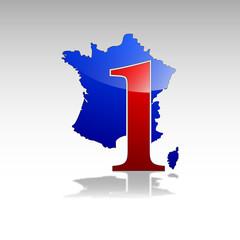 Logo numéro un en France # Vecteur