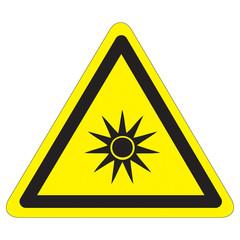 Warnung vor gefährlicher optischer Strahlung