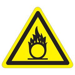 Warnung vor brandfördernden Stoffen