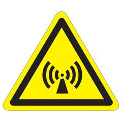 Warnung vor nicht ionisierender elektromagnetischer Strahlung