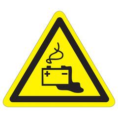 Warnung vor Gefahren durch Batterien