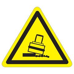 Warnung vor Kippgefahr beim Walzen