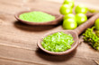 Green salt for aromatherapy