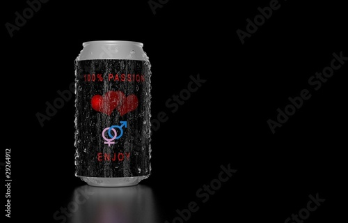 100% Passion soda can