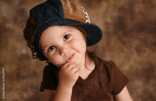 Toddler girl modeling