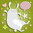 St Valentin's Day bunny jumping