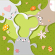 Easter celebration, bunny background