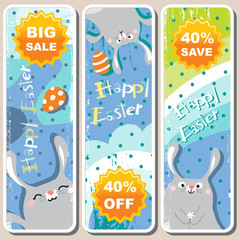 easter symbol sale banners
