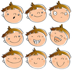 children expressions, animated cartoon kid face