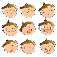 children expressions animated