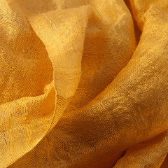 Golden silk closeup