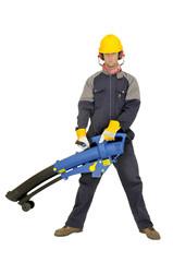 Worker in uniform