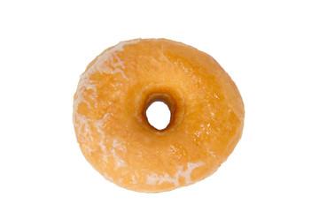 Glazed Donut Isolated on White Background