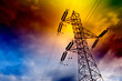 torre de transmision electrica  .Concepto energetico. - 29272593