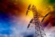 Leinwanddruck Bild - torre de transmision electrica  .Concepto energetico.