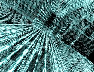 fondo tecnologico con codigo binario