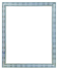 silver wood picture frame isolated on white background