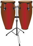 Set of conga  or tumbadora drums