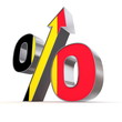 Shiny Percentage Sign Up - Flag of Belgium