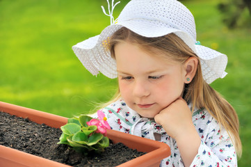 Little girl  - gardening