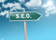 "Signpost ""SEO - Search Engine Optimization"""