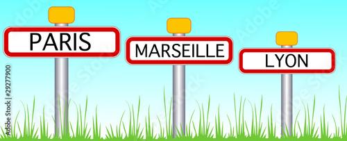 3 plus grandes villes de Frances
