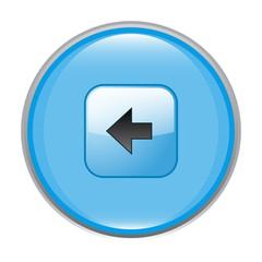 glossy left arrow icon