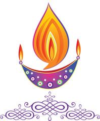 Indian Deepavali oil lamps