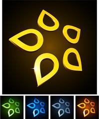 Star vibrant emblems.