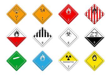 Logistic Hazardous signs