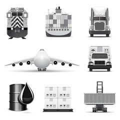 Logistic icons 1 B&W series