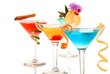 Martini cocktails composition