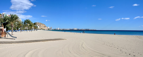 Panorama of Alicante beach, Spain