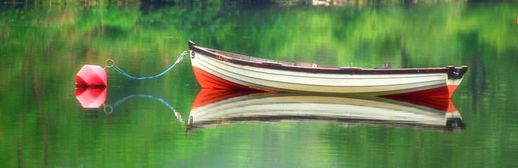 Mirrored Boat