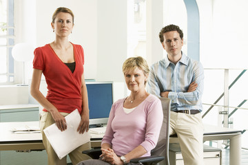 Small group of office workers, portrait