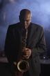 Saxophonist Playing Jazz