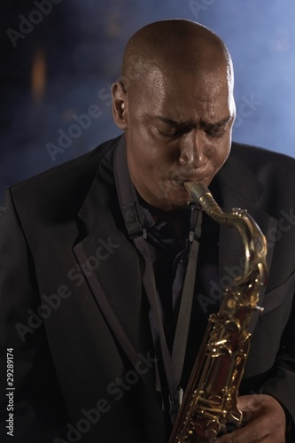 Saxophonist Playing Jazz