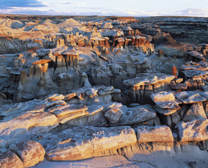 Rock formations, elevated view