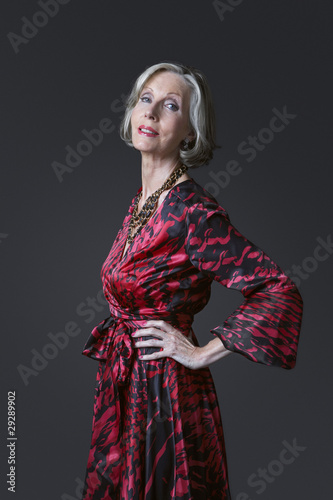 Senior Woman with Hands on Hips
