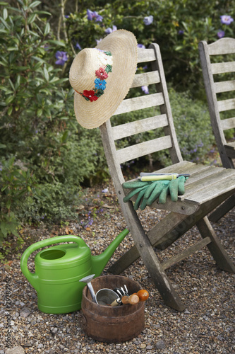 Gardening Tools and Chairs
