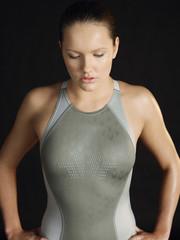 Female swimmer, standing