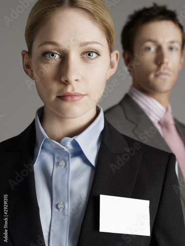 Portrait of business man and business woman