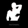 Logo embrace and muscles # Vector