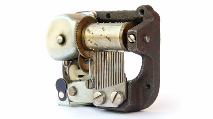 Music box mechanism. Seamless loop with the melody