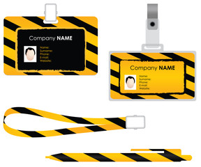 Name tag for id card